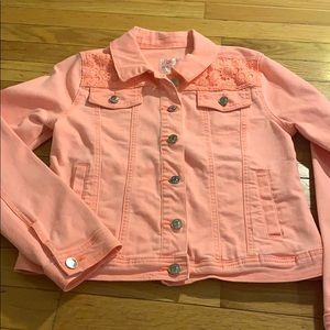 Justice Girls 14/16 Coral Jean Jacket